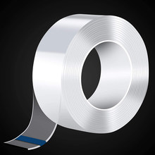 1M/3M/5M Double-sided Nano Tape Double Sided Tape Transparent NoTrace Reusable Waterproof Adhesive Tape Cleanable Tapes for face