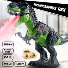 Детские большие игрушки динозавра ходячие спрей Электрический