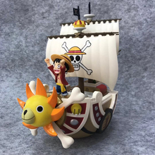 21cm Anime One Piece Thousand Sunny Going Merry Shanks PVC Action Figure Collectible Model Christmas Gift Toy anime one piece figure one of the four kings shanks pvc action figure collection model toy