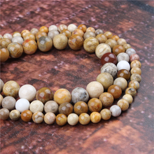 Fashion Chrysanthemum Round Beads Loose Jewelry Stone 4/6/8/10 / 12mm Suitable For Making Jewelry DIY Bracelet Necklace