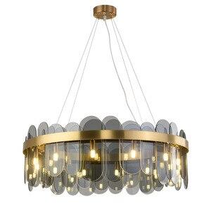 Постмодерн, подвесные светильники, стеклянный свет, Роскошная лампа для гостиной, дизайнерская креативная лампа для домашнего декора, стек...