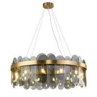 Postmodern pendant lights glass light luxury living room lamp designer creative home decor lights glass restaurant lamps G9 lamp