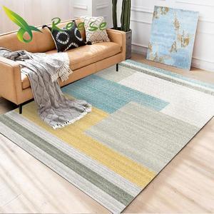 Image 1 - Tapis nordique moderne, pour salon, imprimé en 3d, géométrique, antidérapant, antisalissure, pour sol, fournitures en usine