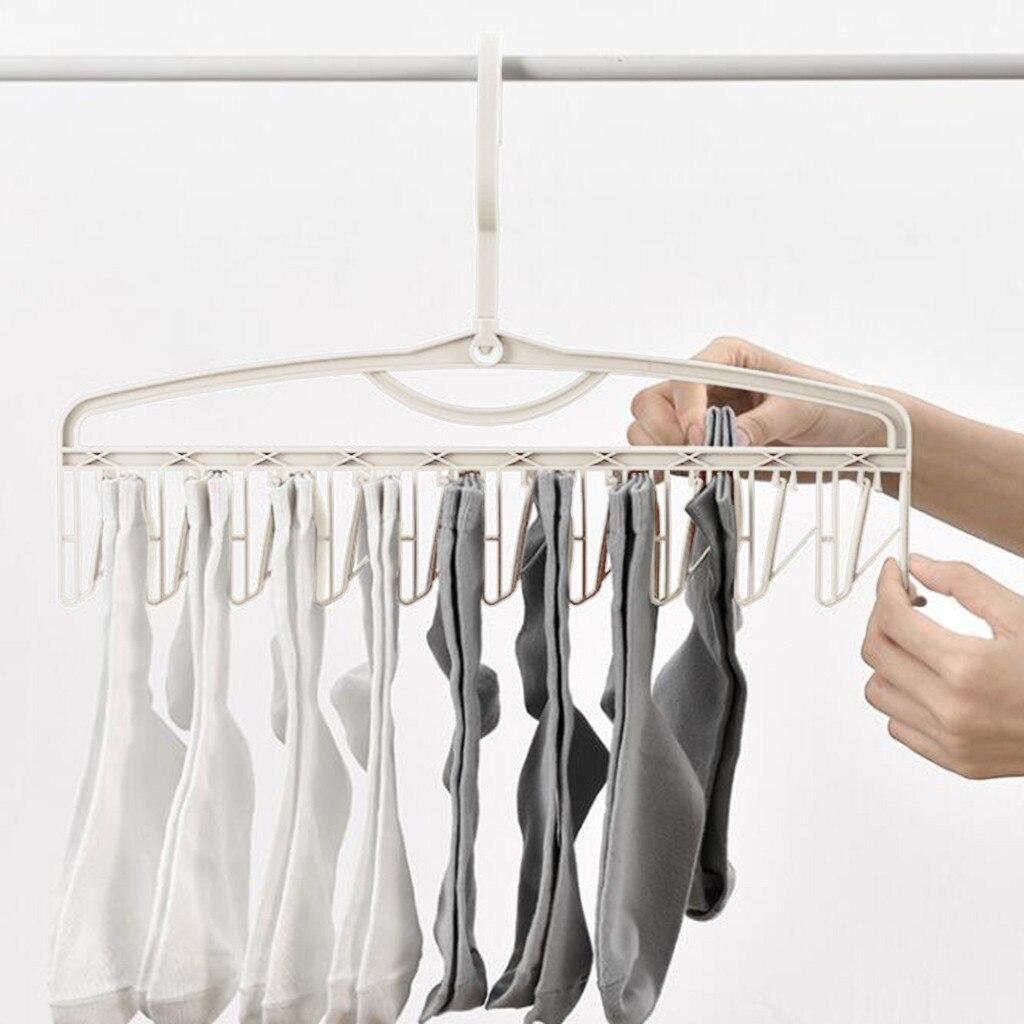 4PCS Anti Falling Towel Socks Three Speed Adjustment No Trace  Portable  Cloth Magic Drying Rack Home Supplies_CZH|Hooks & Rails| |  - title=