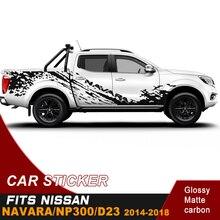 Adesivo do corpo do lado do carro 4 por 4 decalque lama respingo vinil gráfico adesivo de carro personalizado apto para nissan navara np300 d23