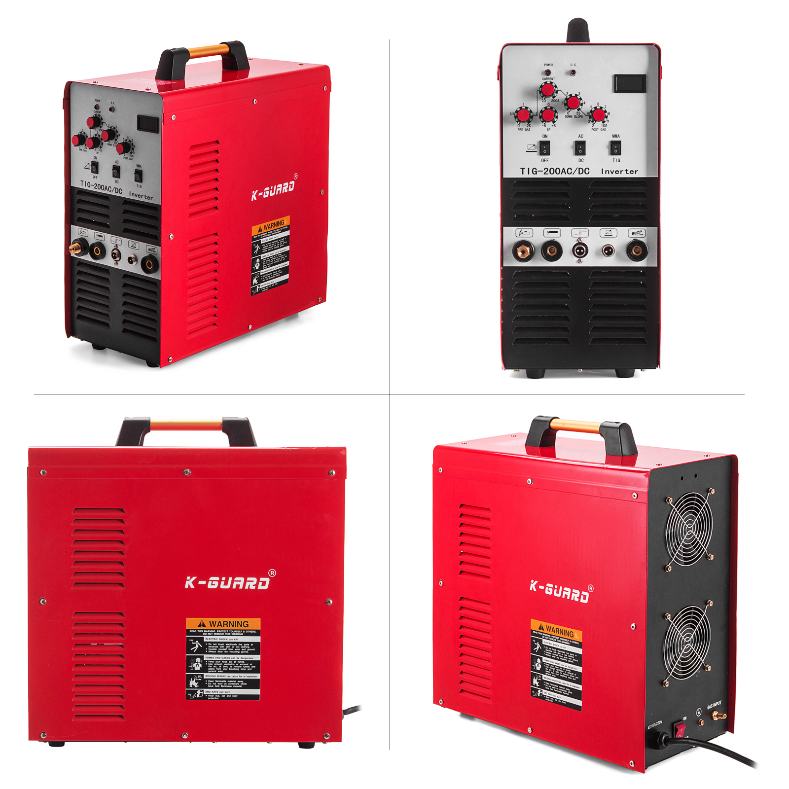 Inversor de Onda Máquina de Solda de Alta Vara Quadrada dc Alumínio 200 Ampères Soldador Igbt Pulso Qualidade Metal110 220 v Tig – ac