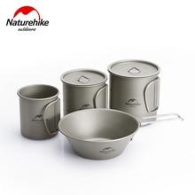Titanium Tableware Coffee-Cup Camping Cookware Naturehike Outdoor Mug Picnic-Set Folding