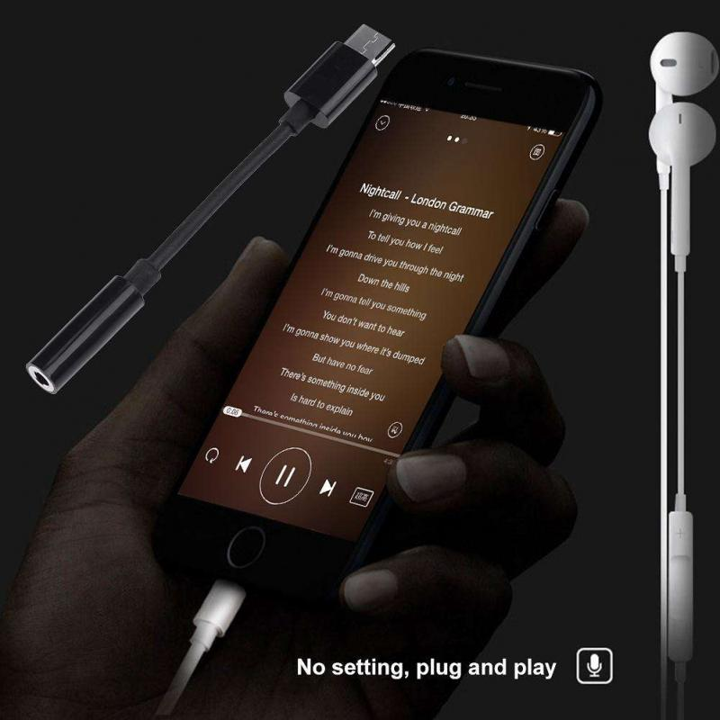 3.5 AUX Audio Earphone Converter 3.5mm Aux Audio Adapter To Type-c Headphone Audio Earphone Converter For Android