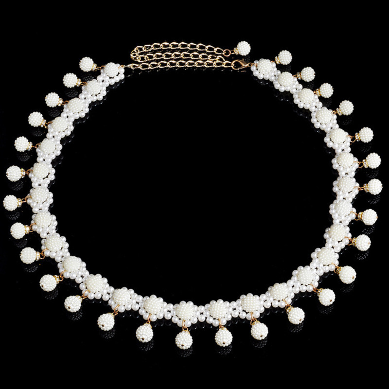 2020 All-match New Design Body Chain High Fashion Pearl Chains Trendy Alloy Belly Chain Stylish Body Jewelry Female Tide ZK769