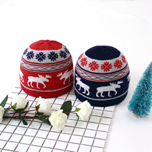 Christmas baby hat Cute Kids Toddler Girls Baby Winter Crochet Knit Hat Beanie Hairball Cap deer