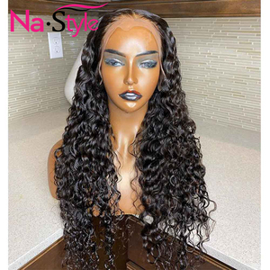 Image 3 - 13x4 Lace Fronl Human Hair Wigs Fake Scalp Preplucked Bleached Knots Curly Human Hair Wigs Long Natural Peruvian Hair 150% Remy