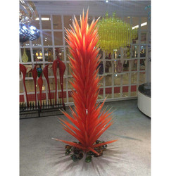 Luxus Hotel Lobby Dekorative LED Hand Geblasen Glas Boden Lampen für Garten Park Conifer