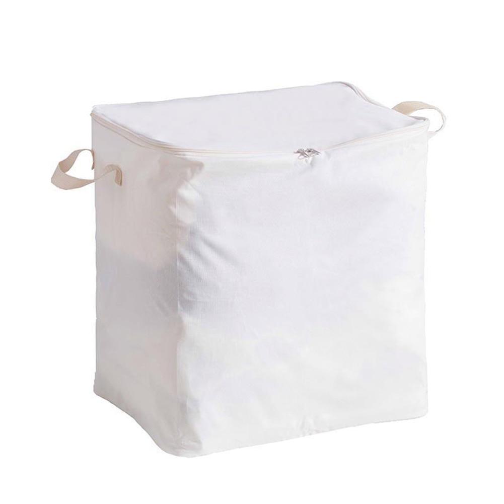 Портативная Пылезащитная домашняя сумка для хранения из ткани Оксфорд, органайзер для одежды, складной чехол - Цвет: Белый