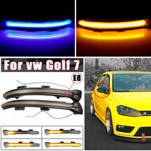 Dynamic Bright LED Turn Signal Crystal For VW Golf MK7 GTI 7 7.5 R Rline GTD Mirror Light clear 2013 2018 2019 2020 Arrow