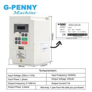 Image 3 - 2.2kw water cooled spindle kit CNC spindle motor 80*230 & 2.2kw VFD inverter & 80mm bracket & water pump & 8 pcs 0.008mm collets