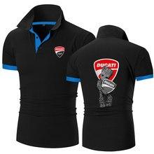 2021 verão moda nova ducati logotipo impressão venda quente curto-mangas compridas em torno do pescoço camisetas mesmo esportes