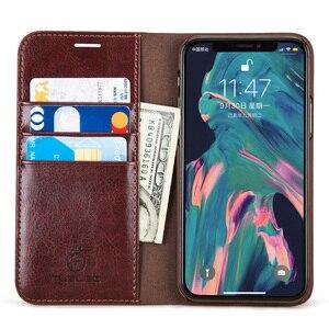 Image 2 - Musubo Leather Case Voor Iphone 11 Pro Max 8 Plus 7 Luxe Wallet Telefoon Gevallen Cover Voor Iphone Xs Max X 6 6S Plus Card Capa Coque