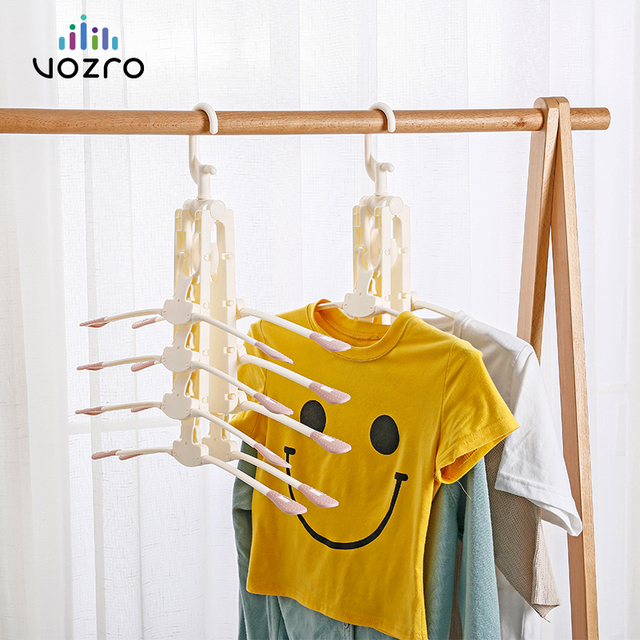 [8 דגי עצמות] VOZRO מייבש ייבוש בגדים מתלה קולבי עבור נפילה ילדים חיצוני תליית כביסה Stand טלסקופים