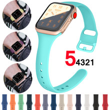 Strap Voor Apple Horloge band 38mm 42mm Sport Siliconen iWatch 5 4 band 44mm 40mm riem armband correa Apple horloge 5 4 3 Accessoires(China)