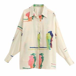 Женская рубашка с принтом zaraing vadiming sheining, свободная рубашка большого размера, весна-лето 2020, BGB2125