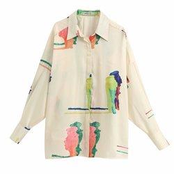 Женская свободная рубашка с принтом zaraing vadiming sheining, большие размеры, весна-лето 2020, BGB2125