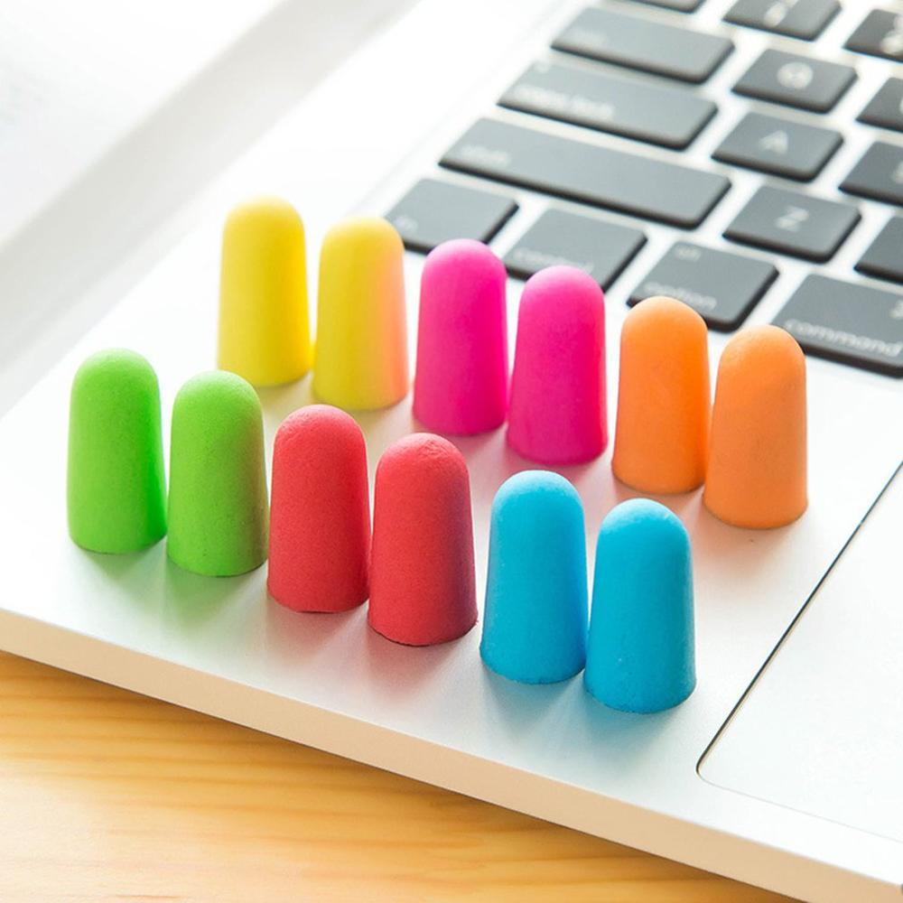 Practical Noise Reduction Earplug Soft Sponge Ear Plugs Sound Insulation Ear Protection Earplugs Sleeping Plugs With Storage Box