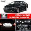 TPKE 9 Piece Xenon White 5050 SMD LED Interior Kit For 2015-2017 Chrysler 200  Trunk Map Dome License Plate Light 1