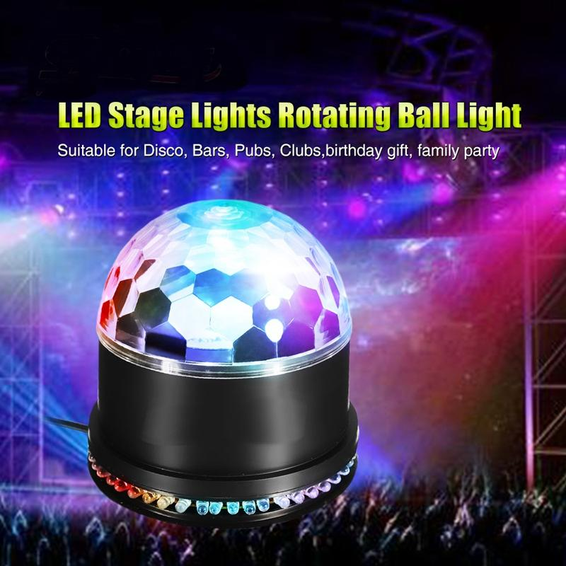 51 LED Disco Ball Lights Sound Activated Rotating Disco Ball Party Lights Strobe Light 12W RGBStage Lighting Effect For Home KTV
