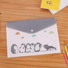 Милые пластиковые папки с мультяшным котом, а4, органайзер для офисных файлов, для хранения документов, папки в виде сумок, бумажная сумка для документов, офисные школьные принадлежности
