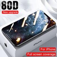 Protector de pantalla de vidrio templado para móvil, película protectora de vidrio para iphone 11 12 PRO XS MAX X XR, 7 8 Plus 6 6s SE