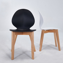 Postmodern INS Solid Wood Plastic Chair Restaurant Dining Chair Living   Room Office Meeting Business Family Bedroom Wood Chairs