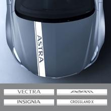 Opel Astra için Adam Combo Crossland X Meriva Tigra Zafira Vivaro Grandland Corsa Insignia Mokka OPC Vectra araba kaput çıkartmaları