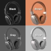 SD 1004 Draadloze Bluetooth 5.0 Hoofdtelefoon Microfoon Volumeregeling Leer Oor Pad Oortelefoon Sport Over Ear Verstelbare Headset