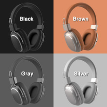 SD 1004 Wireless Bluetooth 5.0 Headphones Microphone Volume Control Leather Ear Pad Earphone Sports Over Ear Adjustable Headset