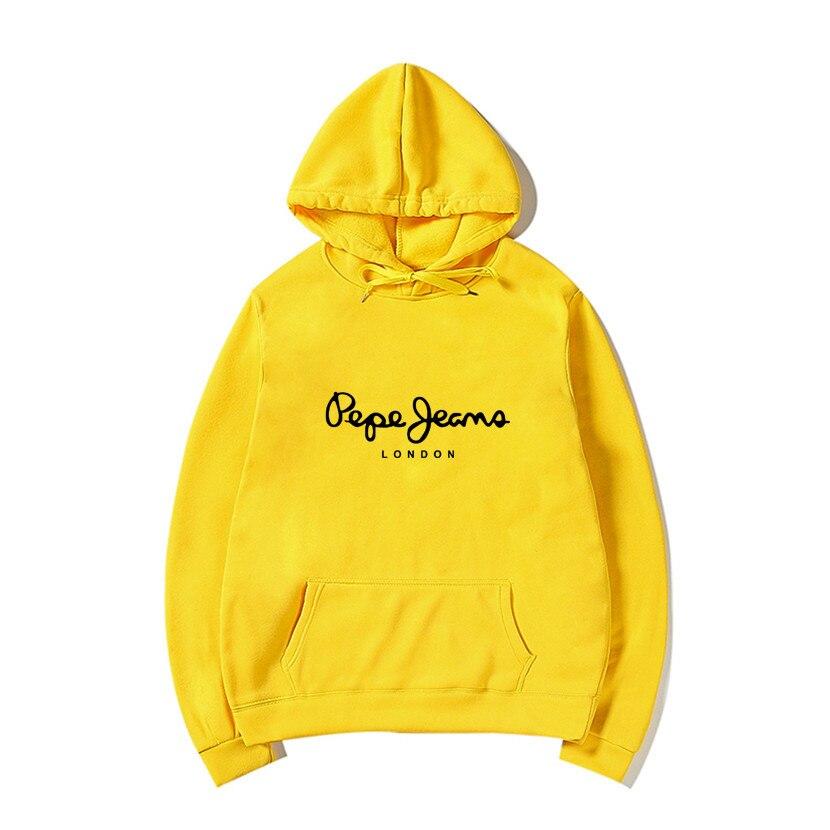 2019 New PEPE Letter Fashion Brand Printing Hoodie Sweatshirt Men/ Women Long Sleeve Hooded Casual Cotton Sweatshirt S-3XL