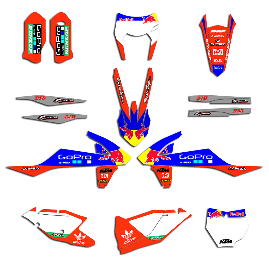 Motorcycle Team Graphics Decals Stickers For KTM EXC EXCF XCW 125 200 250 300 350 450 <font><b>500</b></font> 2017-2019 SX SXF XC XCF 2016-2018 image