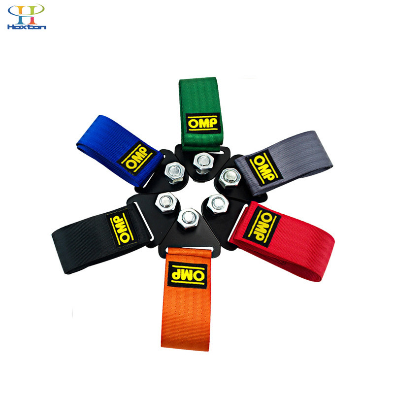 OMP Towing Rope High Strength Nylon OMP JDM Towing Ropes Car Racing Universal Tow Eye Towing Eye
