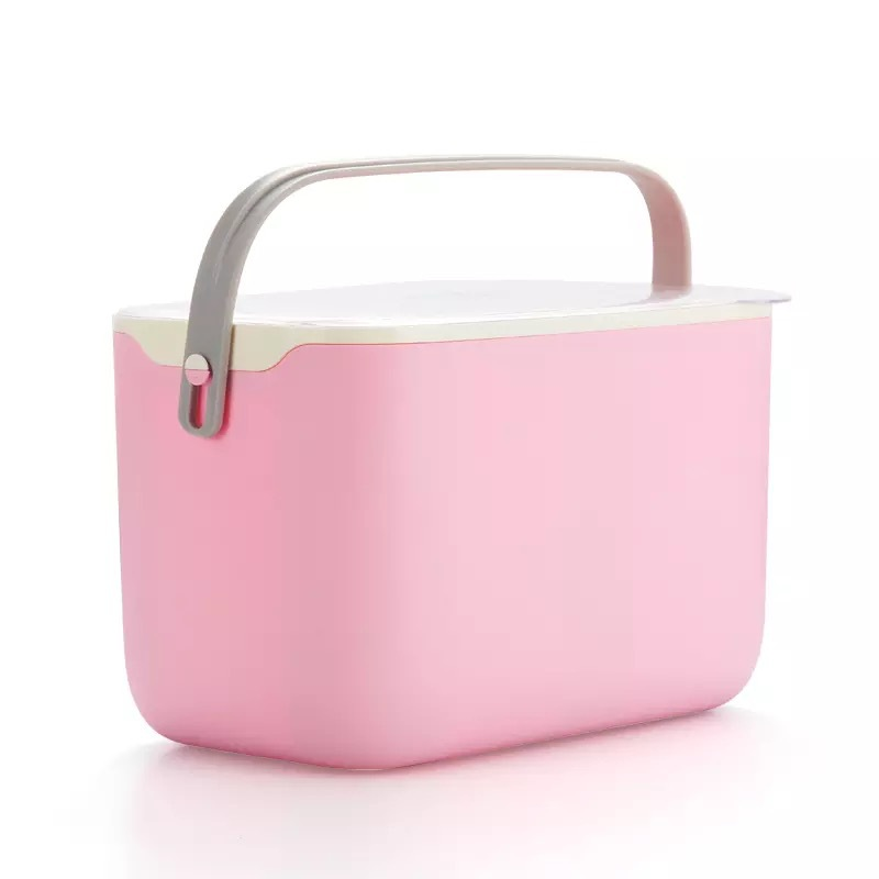 Cosmetic Storage Box Portable Lid Sealed Drying Rack Drain Tank First Aid Box