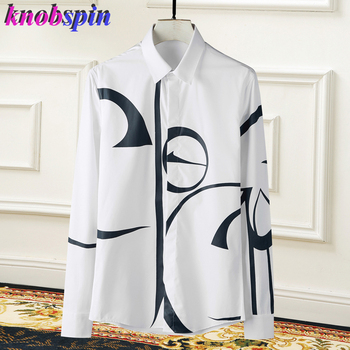 2019 New Brand Fashion Men Shirt Turn down collar Long sleeve Slim Chemise homme High quality Casual business male dress Shirts