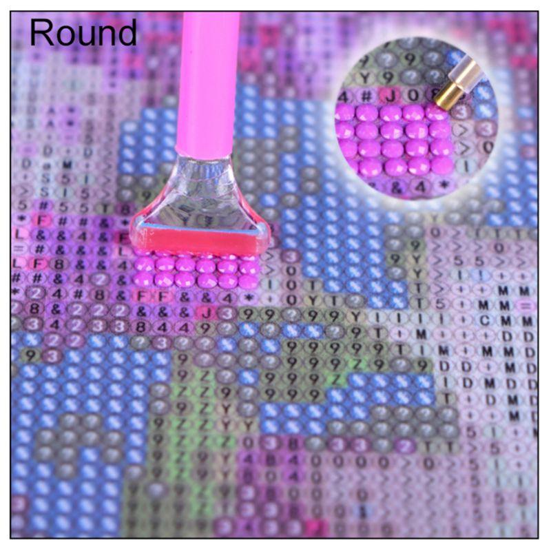 Купить с кэшбэком 5D Diamond Painting Beach by Number Kits, Painting Cross Stitch Full Drill