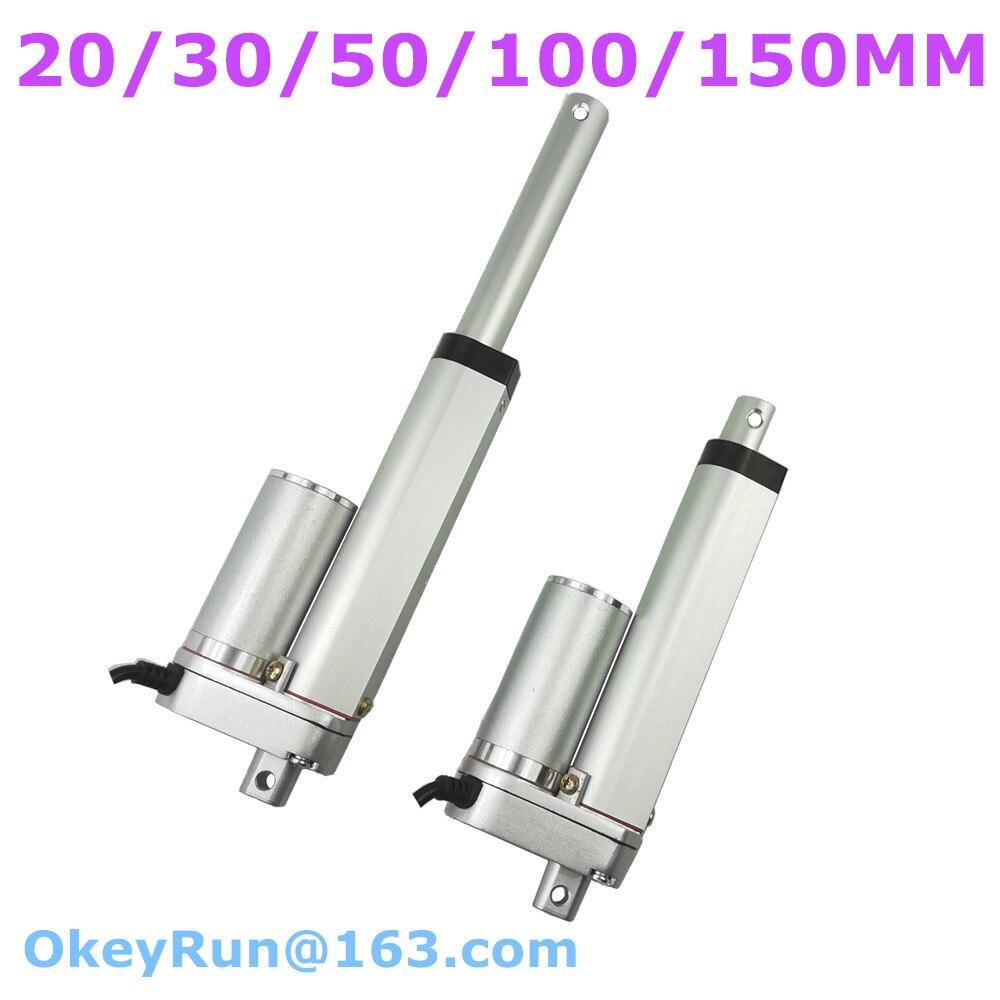 Motor del actuador lineal 12//24V de alta velocidad 30mm 50mm//s Abridor De Puerta Soporte de montaje
