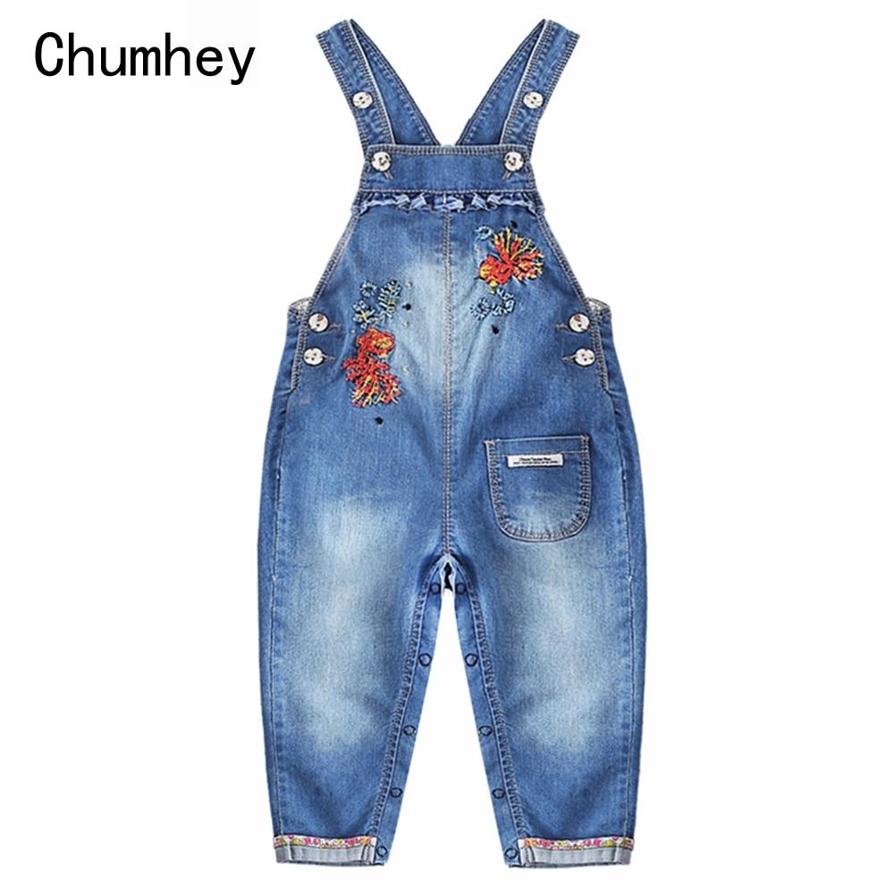 Chumhey 0 3t Monos Para Bebes Y Ninas Bordado De Algodon Suave Denim Nino Babero Suspender Jeans Pantalones Ninos Ropa Bebe Ropa Monos Aliexpress