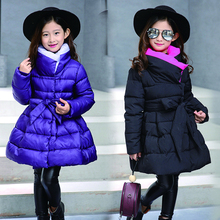 Toddler Girls Winter Outerwear Coats and Jackets Children Bow Parka Spring Autumn Warm Clothes 2019 Fashion Teenager