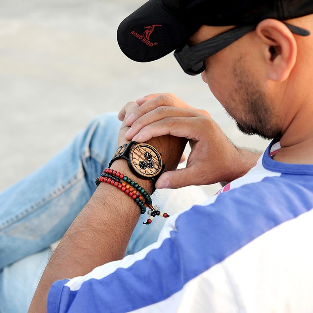 H5b731544e09e484d9cf7eab23ffbcb2fp BOBO BIRD Wooden Watch Men erkek kol saati Luxury Stylish Wood Timepieces Chronograph Military Quartz Watches in Wood Gift Box