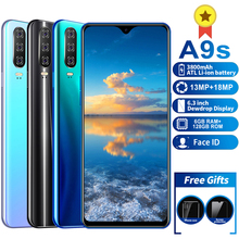 A9S Mobile phone MTK6595 Phones 4G LTE 6GB+128GB Camera 13MP 18MP Smartphone 6.3