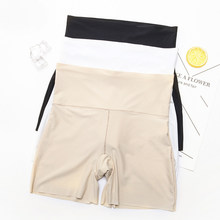 3 pçs verão mulheres shorts de segurança de seda gelo sexy roupa interior cintura alta sem costura curto para a mulher das senhoras meninas casual boxer shorts
