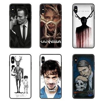 Cool Graham Hannibal Mads Mikkelsen Upcoming Black Soft Painted Cover Phone Case For Galaxy A10S A20 A20S A20E A21S A30S A40 image