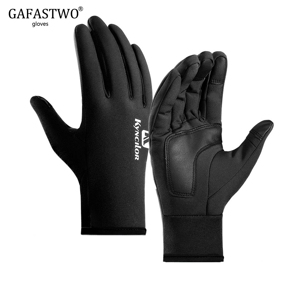 Winter Skiing Plus Velvet Mens Gloves Ladies Outdoor Waterproof Windproof Warm Touch Screen Sports Riding Thickened Full Finger