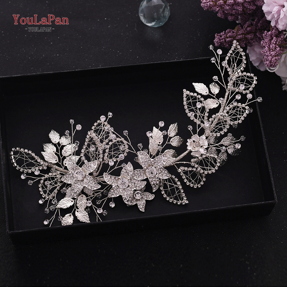 YouLaPan Flower Girl Wedding Hair Accessories Pageant Crown And Tiara Jewelled Headband Diamond Headpiece For Women HP282