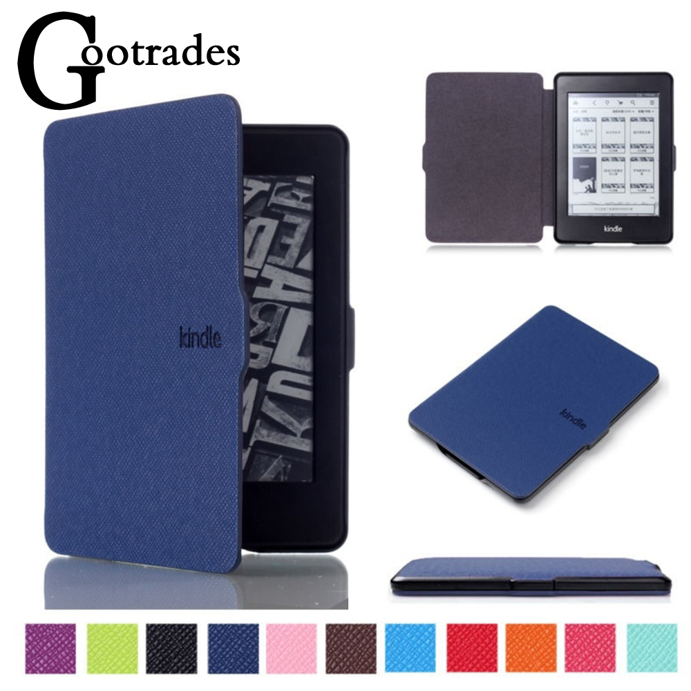 Ultra Slim Smart Case Magnetic Cover PU Leather Auto Waking/Sleeping EReader Shell For Amazon Kindle 8th Generation 2016